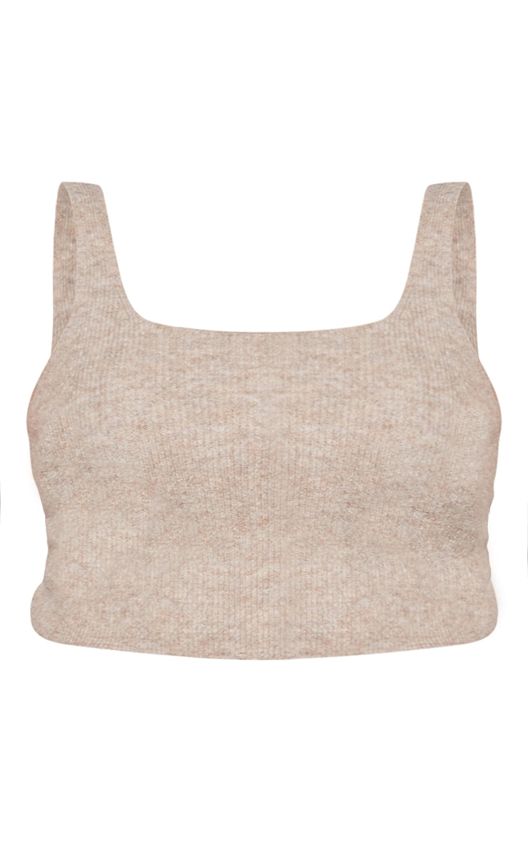 RENEW Plus Oatmeal Knitted Cropped Top 5