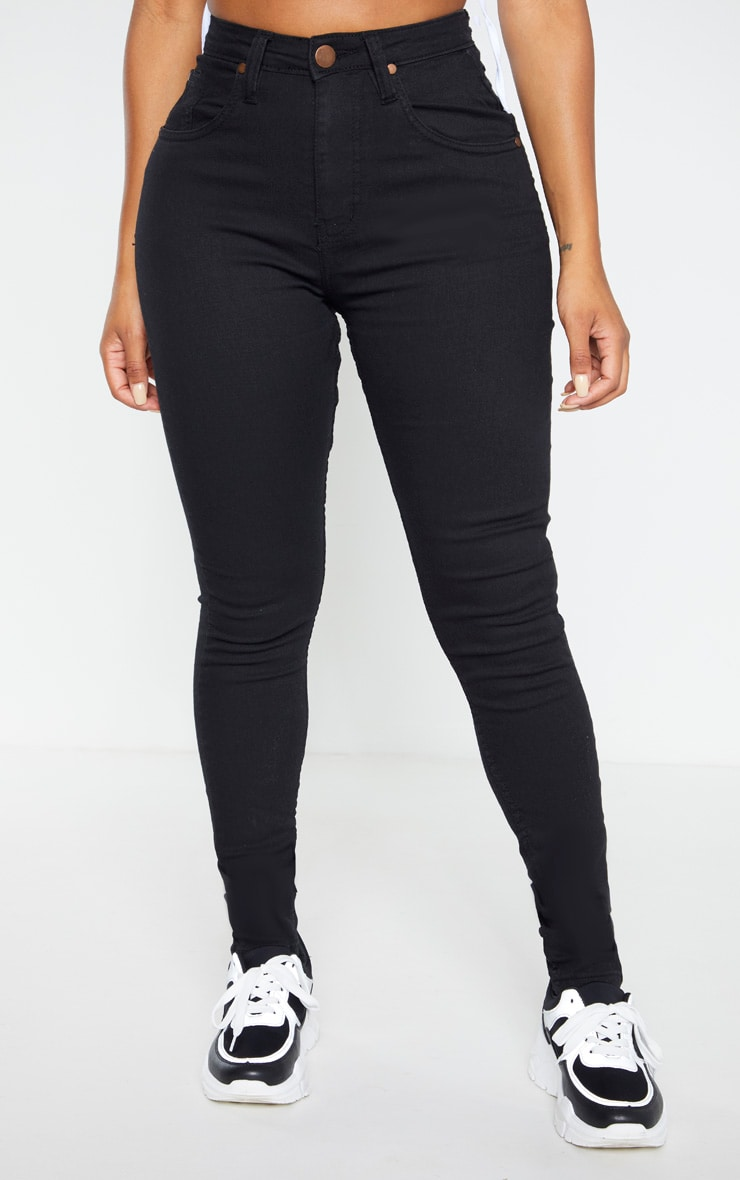 Shape - Jean noir super stretch taille basse 2