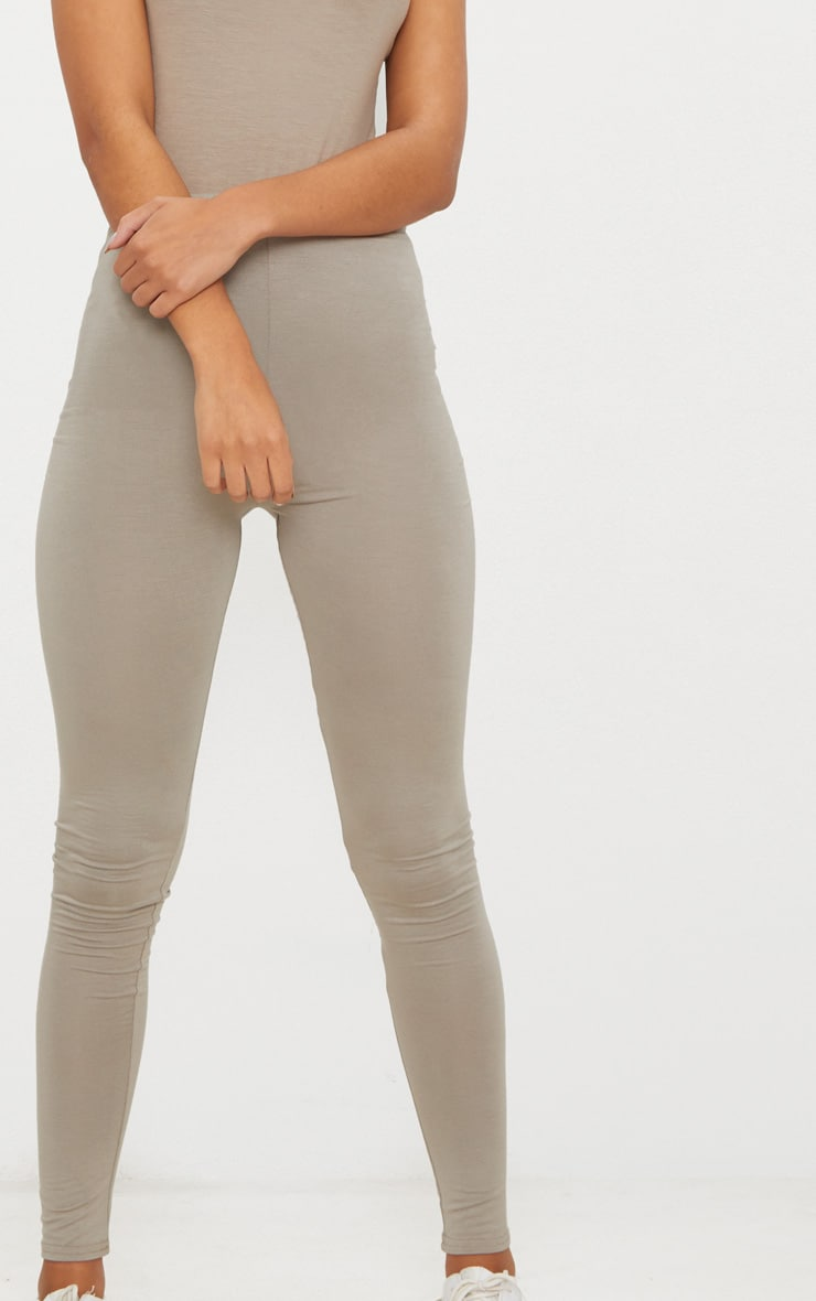 Charcoal Grey and Taupe Basic Jersey Legging 2 Pack 6