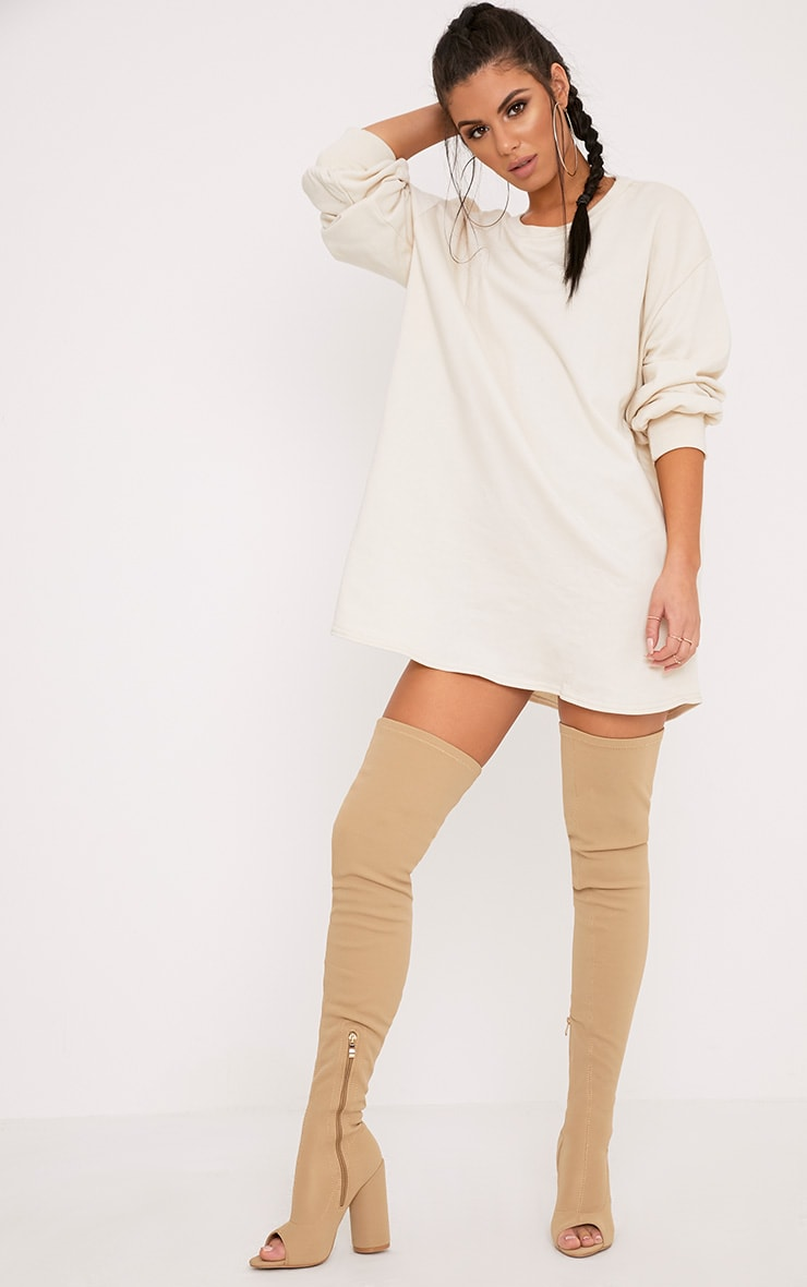 Sianna Taupe Oversized Sweater Dress 4