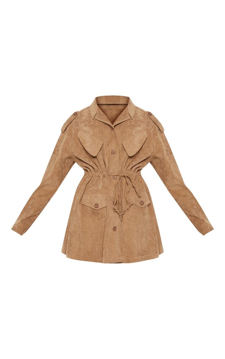 Tan Cord Oversized Jacket  3
