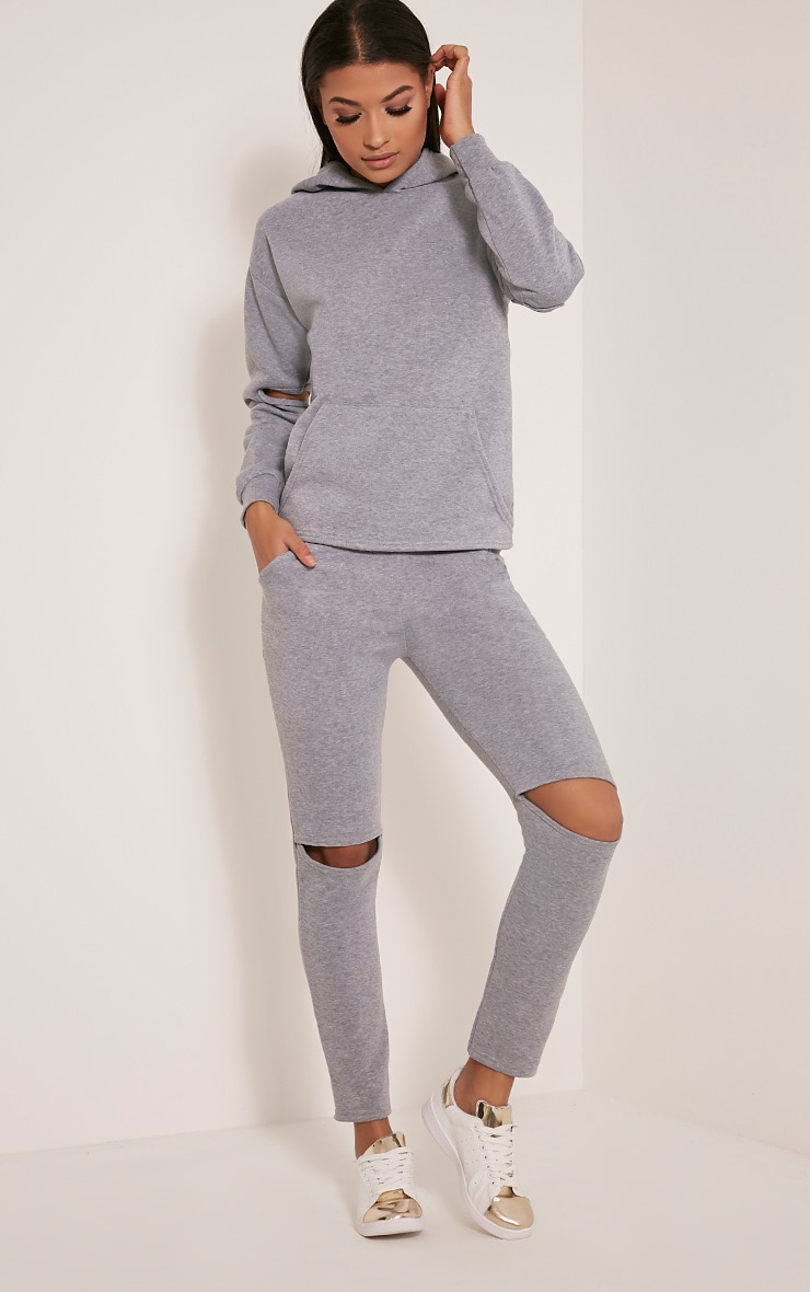 Dionne Grey Slit Elbow Sweater 4