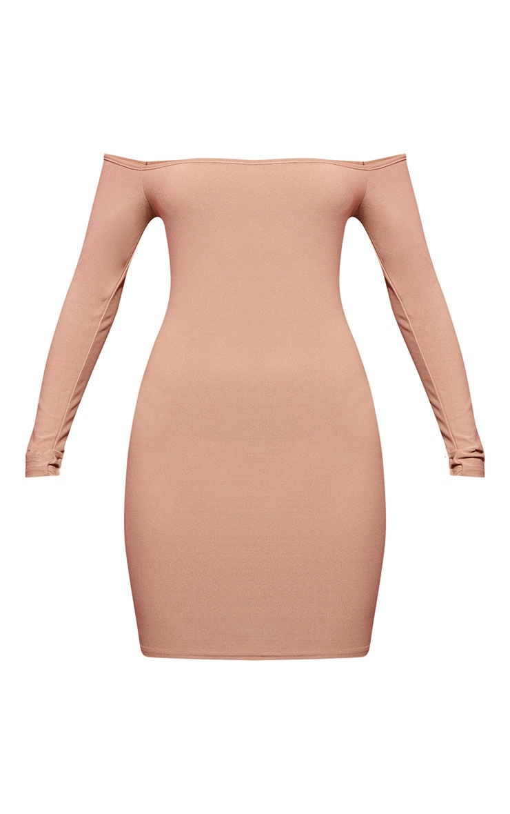 Stone Bardot Bodycon Dress 3