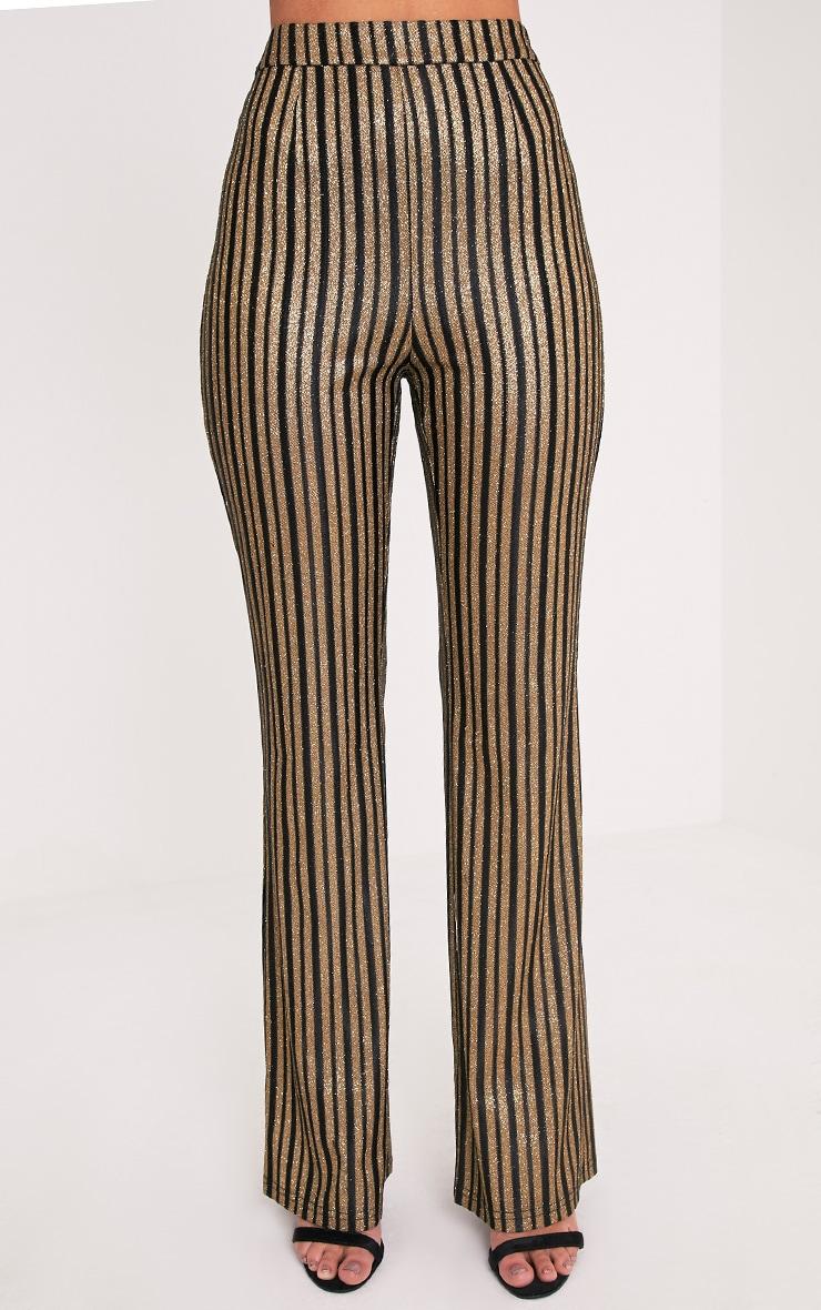 Lashelle Black Sparkle Stripe Trousers 2