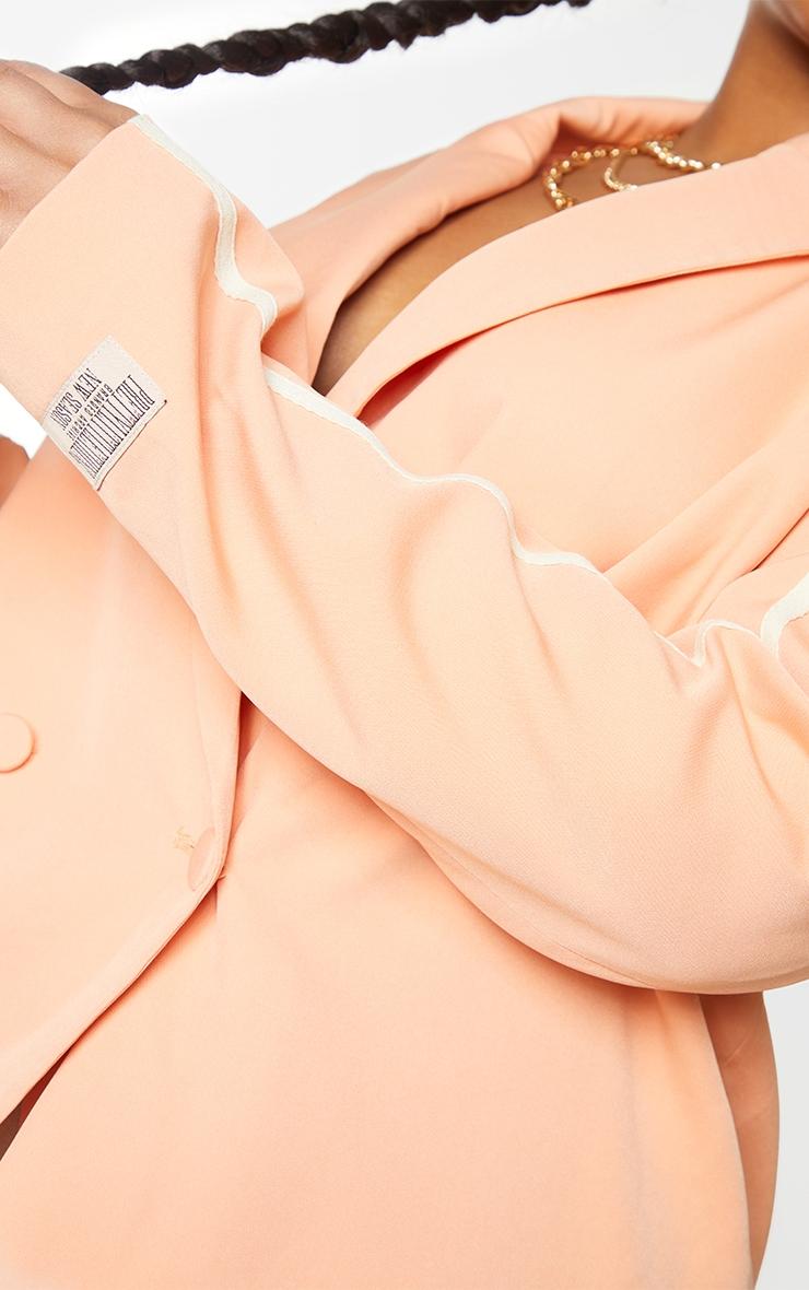 Plus Orange Stripe Detail Double Breasted Blazer 4