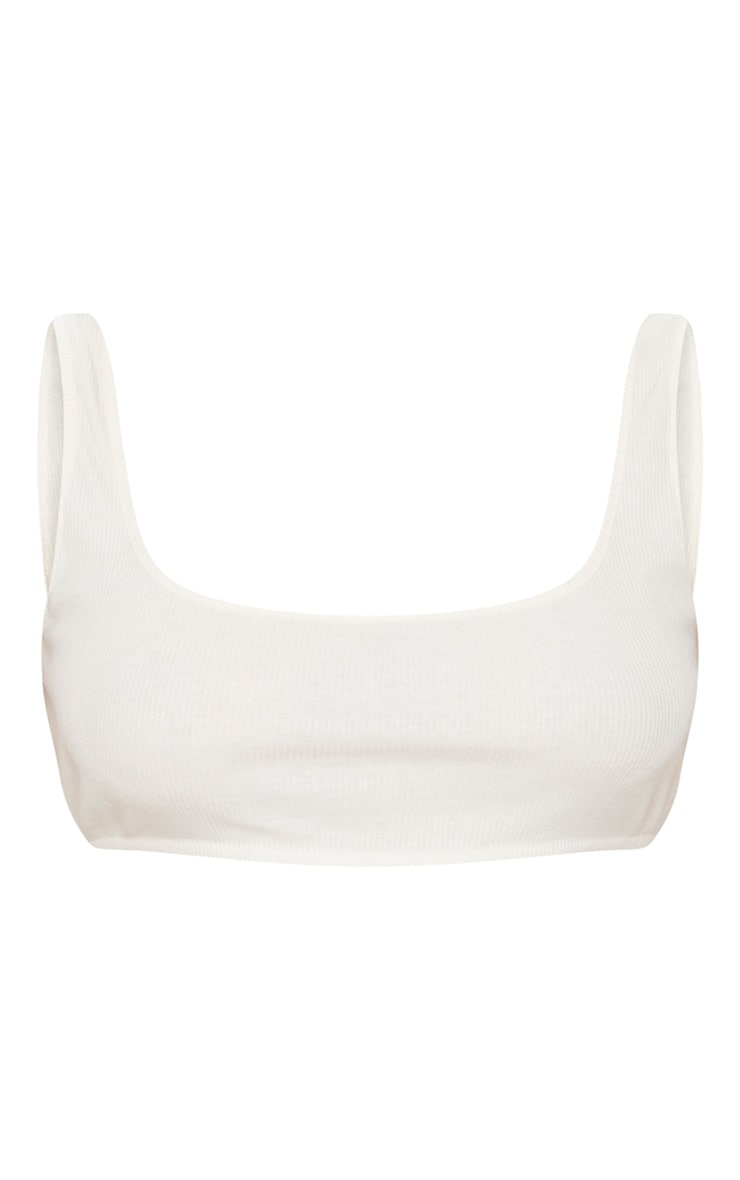 Plus Cream Second Skin Ribbed Extreme Crop Top 3