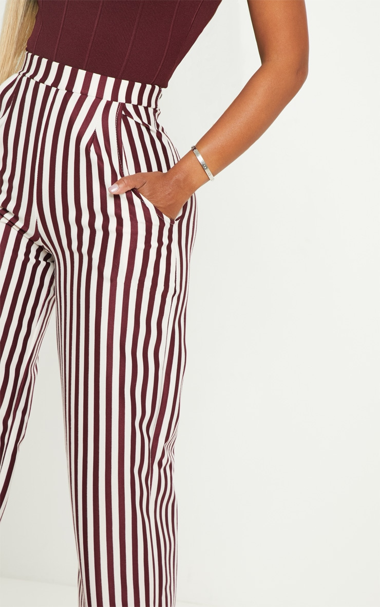 Shape Burgundy Wide Leg Pants  5