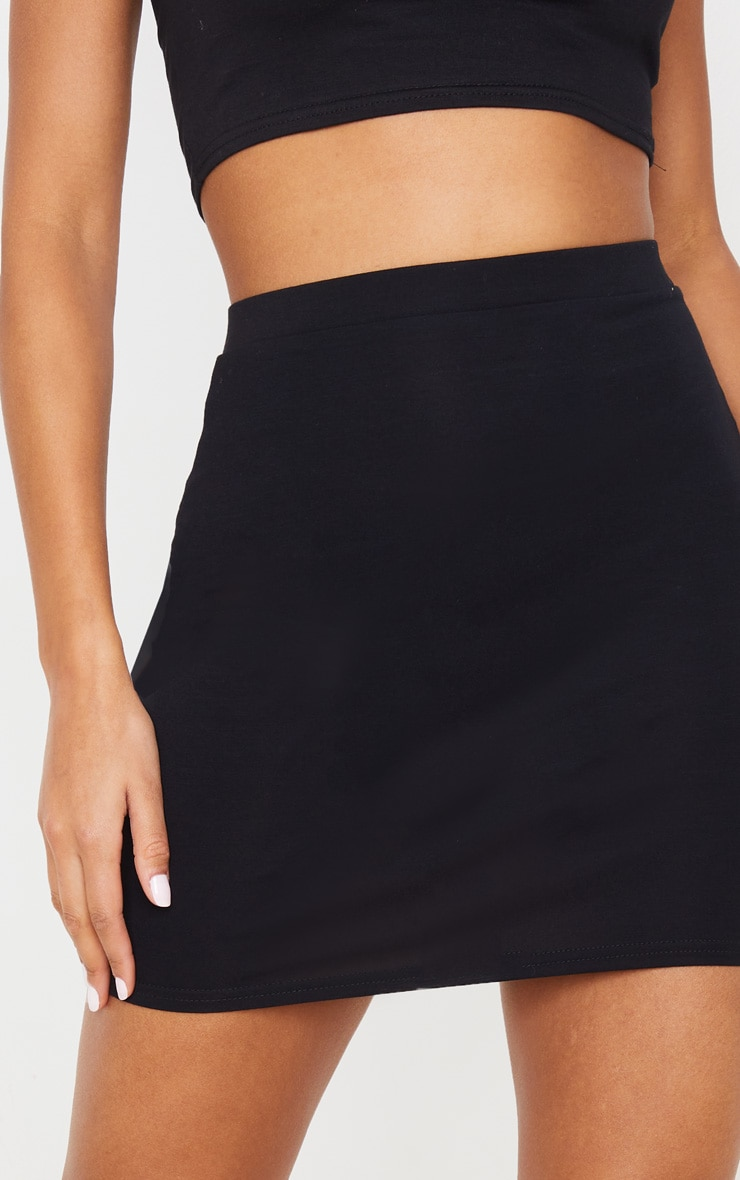 Black Ultimate Jersey Mini Skirt 5