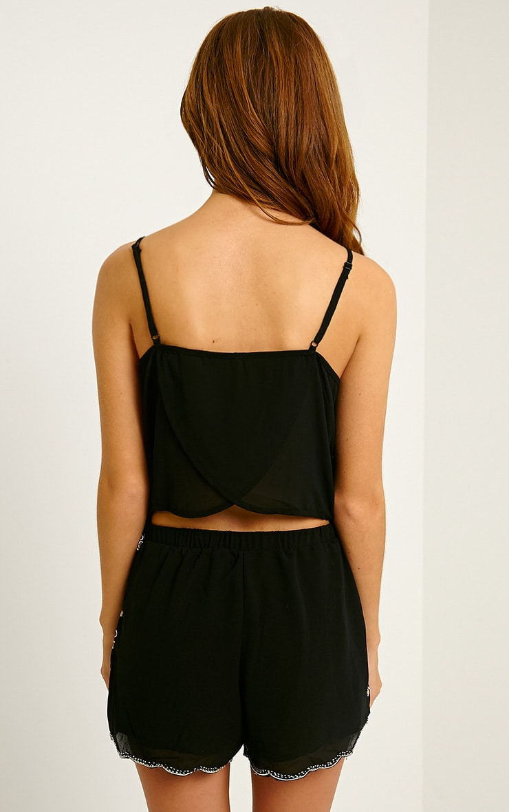 Ardelia Black Sequin Playsuit 2