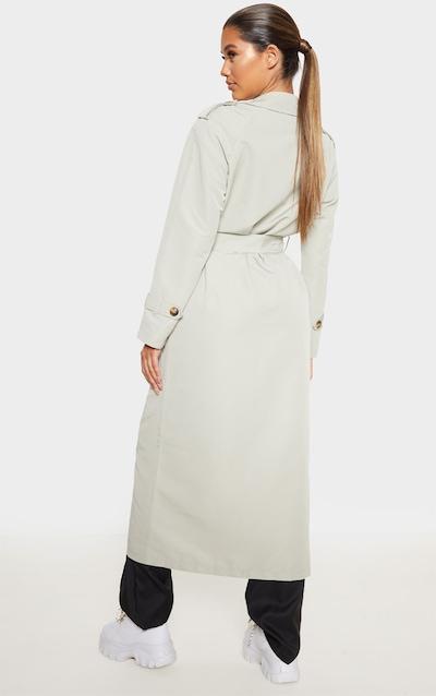 Pale Khaki Oversized Trench Coat