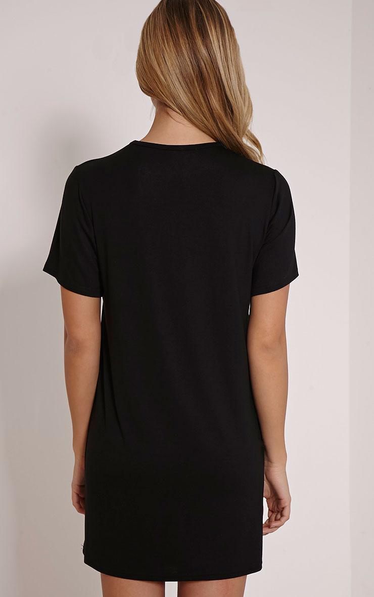 Eat Sleep Nap Repeat Black Oversized Nighshirt 2