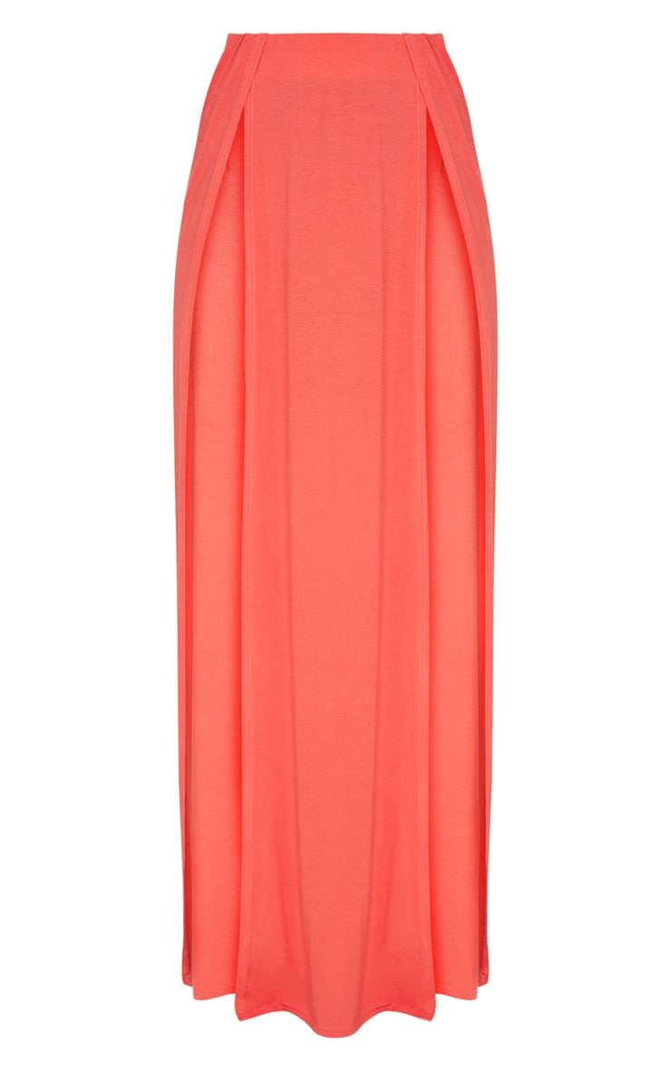 Tangerine Double Split Maxi Skirt 3
