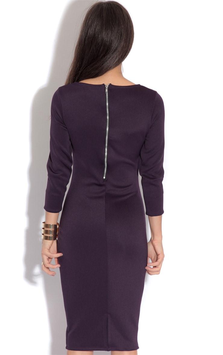 Macy Bergundy Bodycon Dress-18 4
