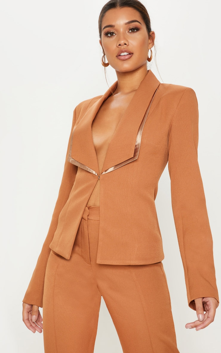 CAMEL SUIT JACKET