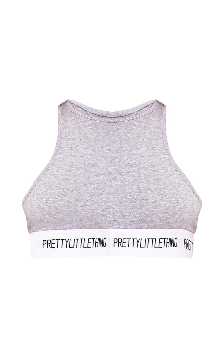 PRETTYLITTLETHING Grey High Neck Soft Bra 3