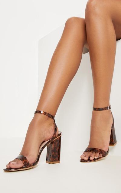 e9122ec36286 Tortoise Shell Ankle Strap Block Heel
