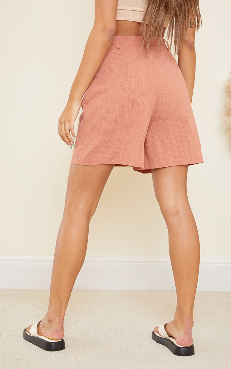 Clay Textured Woven Tailored Shorts 3