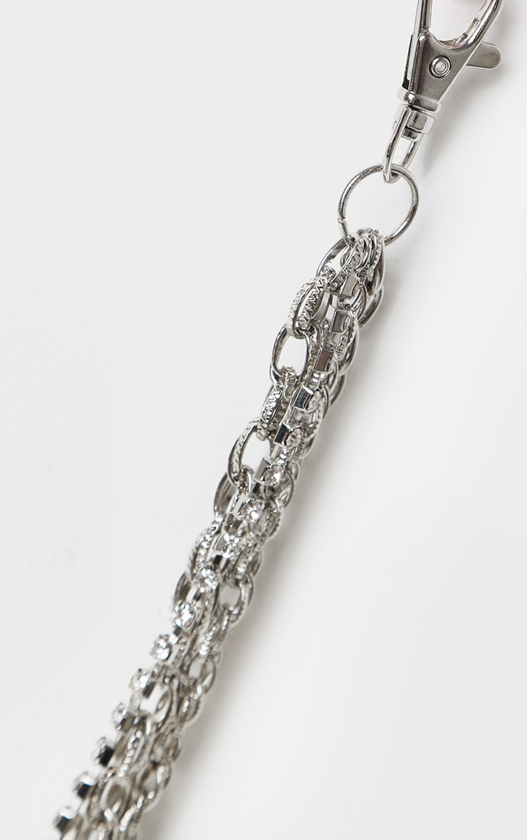 Silver Layering Small Chain Belt 3