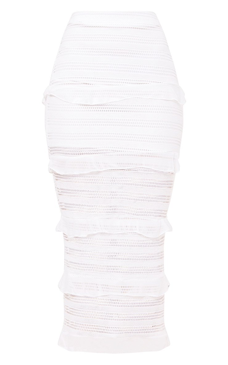 Ivory Tiered Frill Midaxi Skirt 3