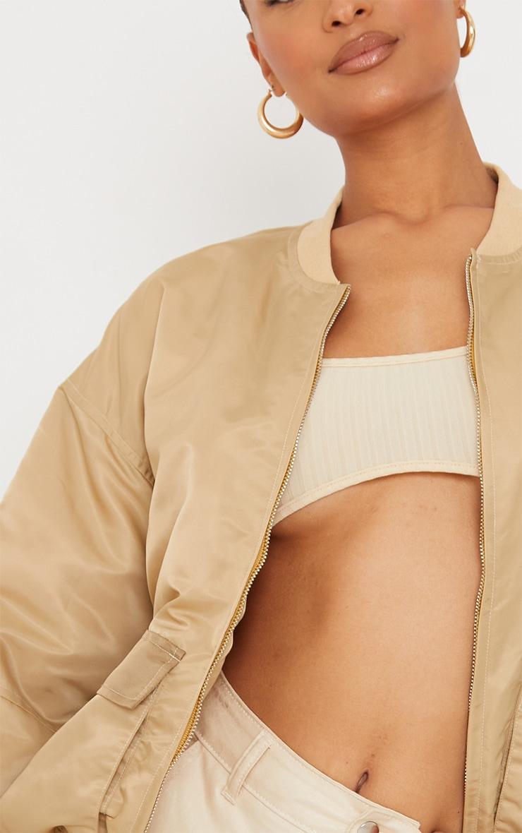 Stone Contrast Pocket Padded Nylon Jacket 4