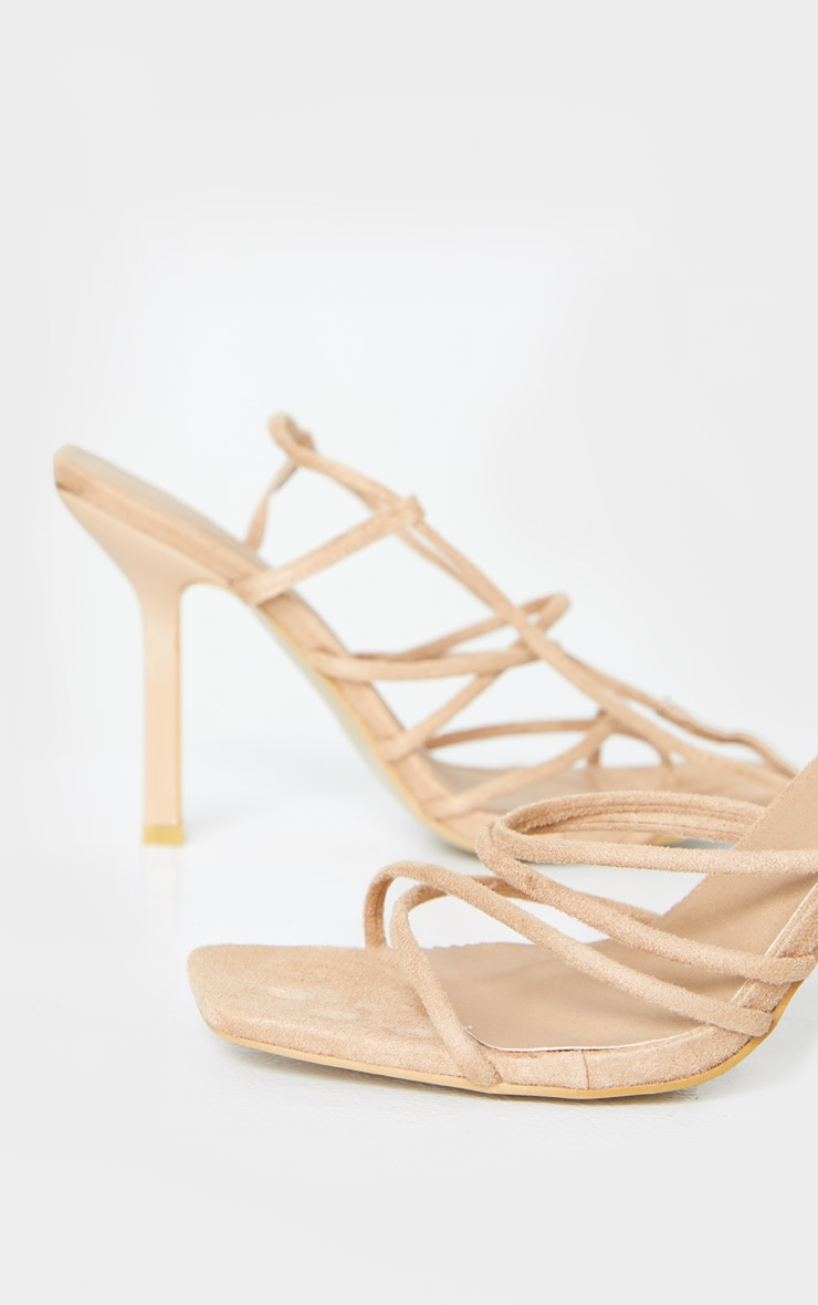 Sand Squared Strappy Heels 5