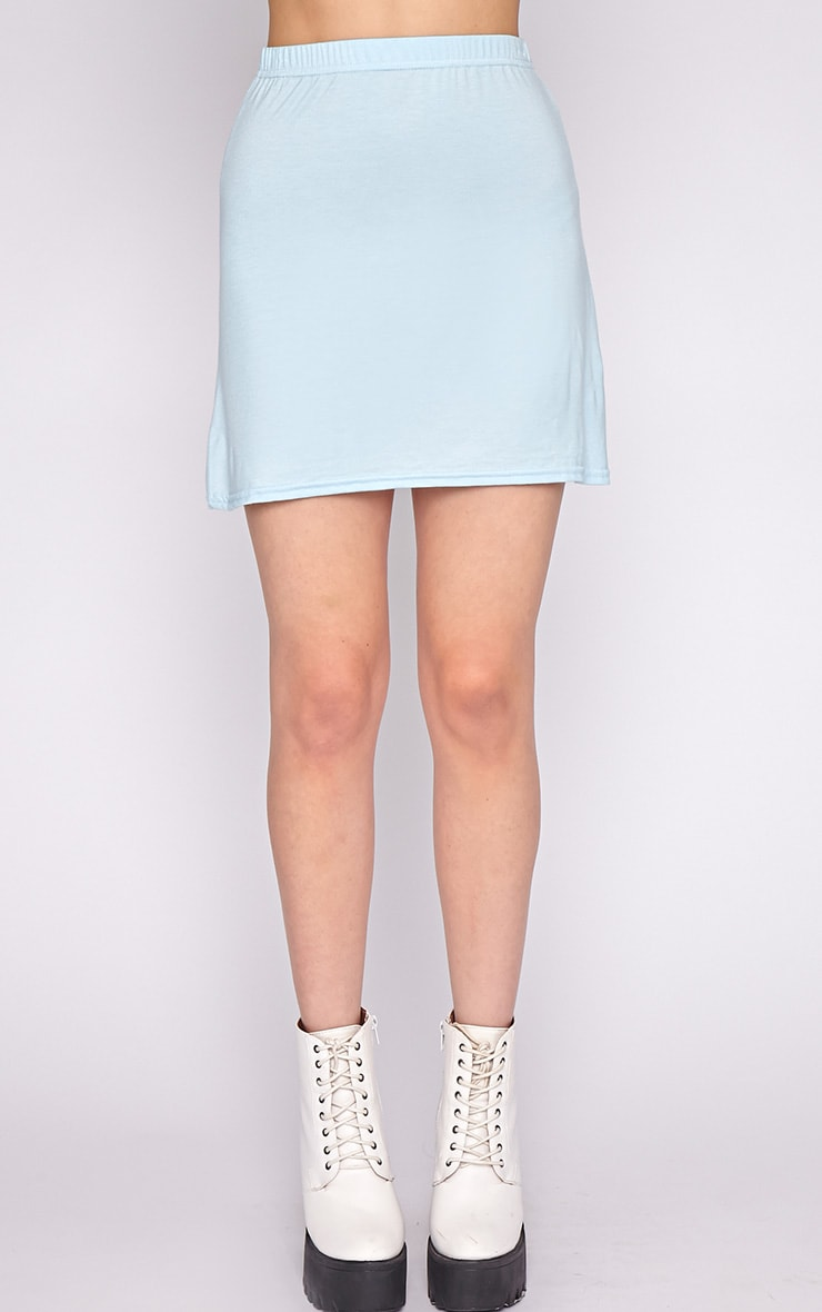 Erika Blue A Line Mini Skirt 3
