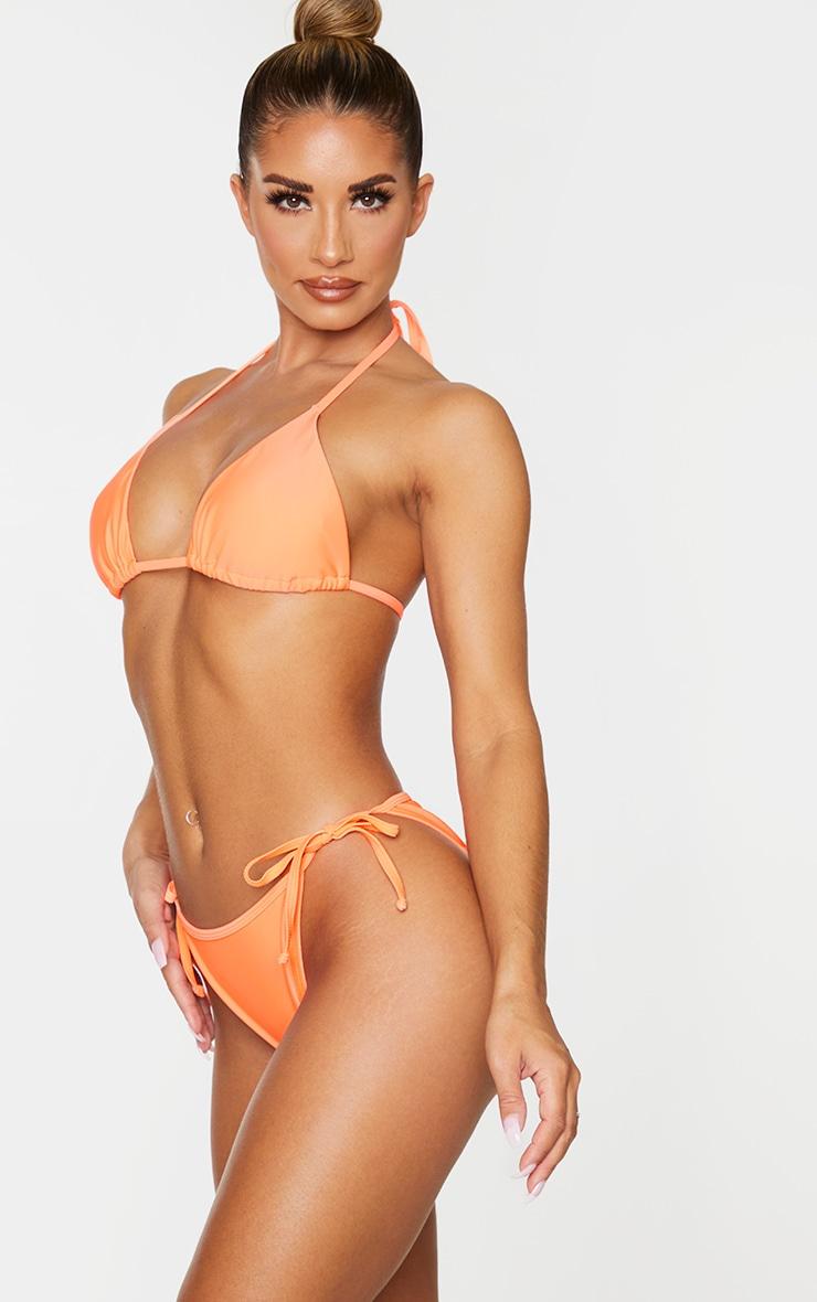 Coral Mix & Match Tie Side Bikini Bottom 2