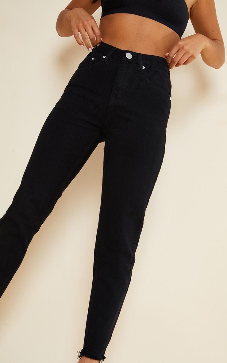 Petite Black Denim Straight Leg Jeans 4