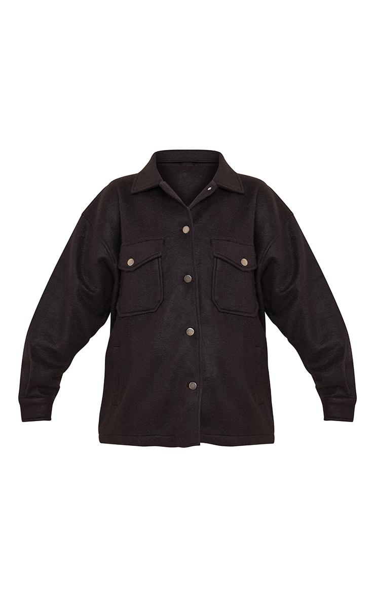 Black Pocket Front Shacket 5