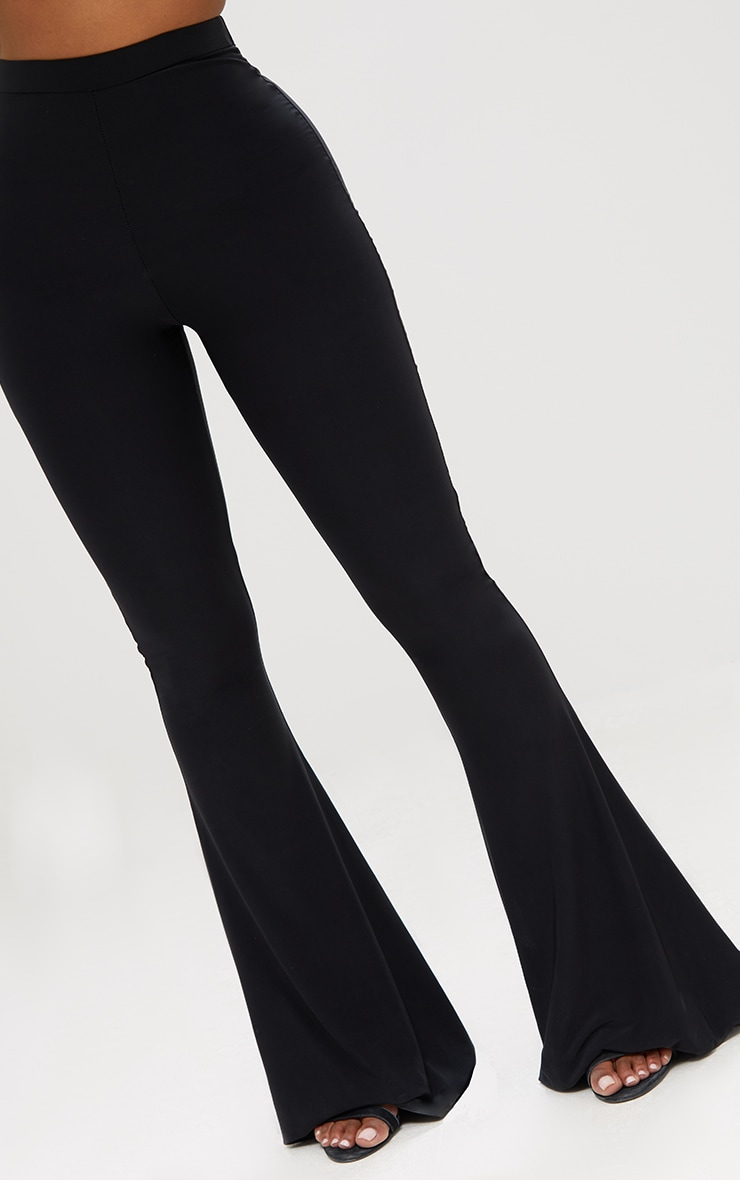 Shape Black Slinky Flared Leg Pants 5