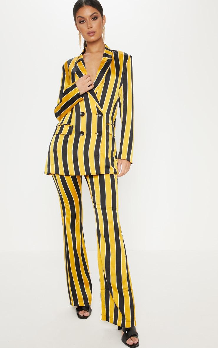 Yellow Stripe Blazer  4