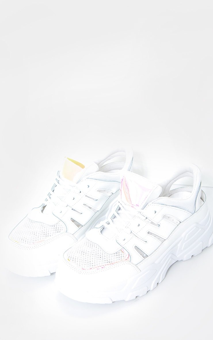 White Chunky Sole Detail Sneakers 2