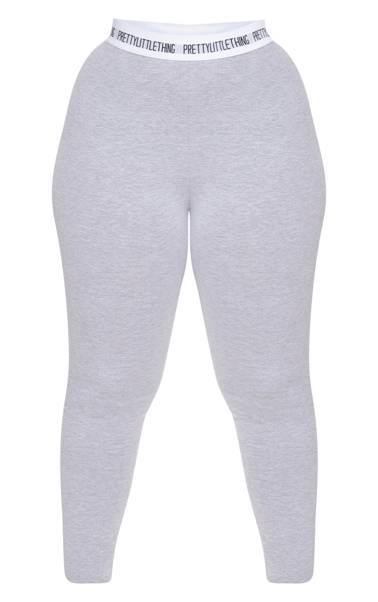 PRETTYLITTLETHING Plus Grey Marl Leggings 3