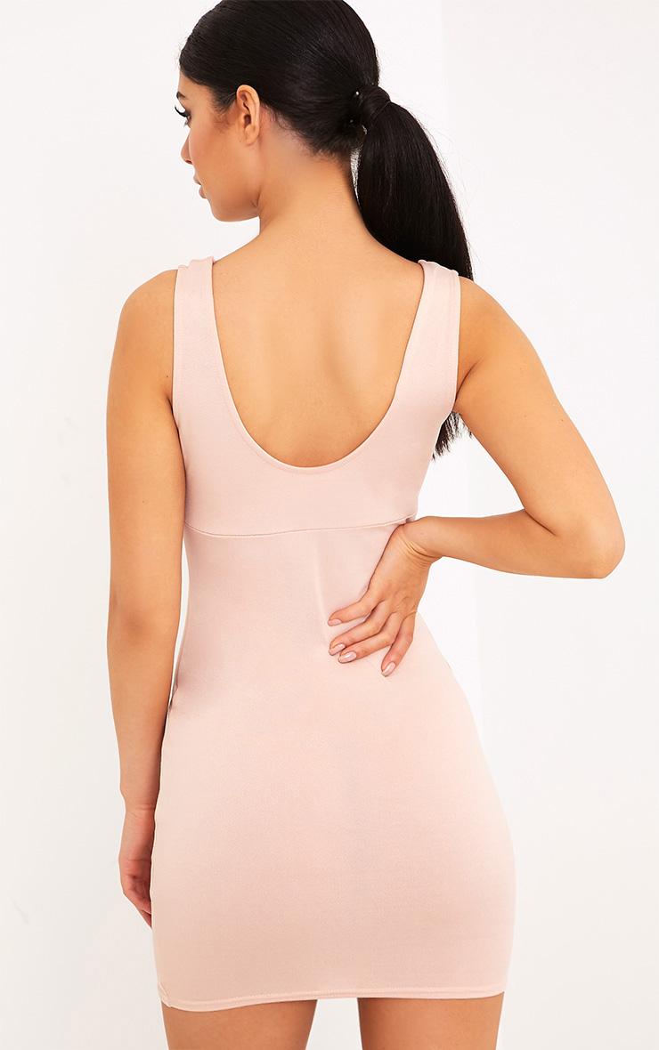 Jemimia Nude Eyelet Detail Bodycon Dress 2