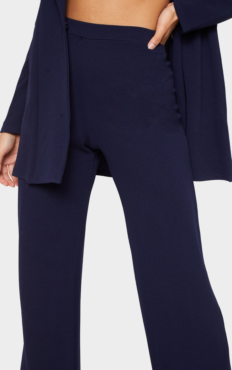Navy Wide Leg Trouser 5