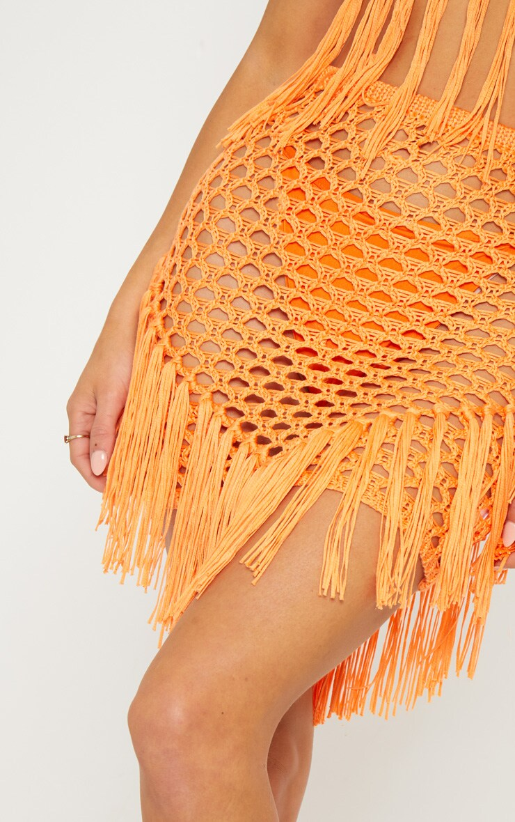 Orange Crochet Skirt 6