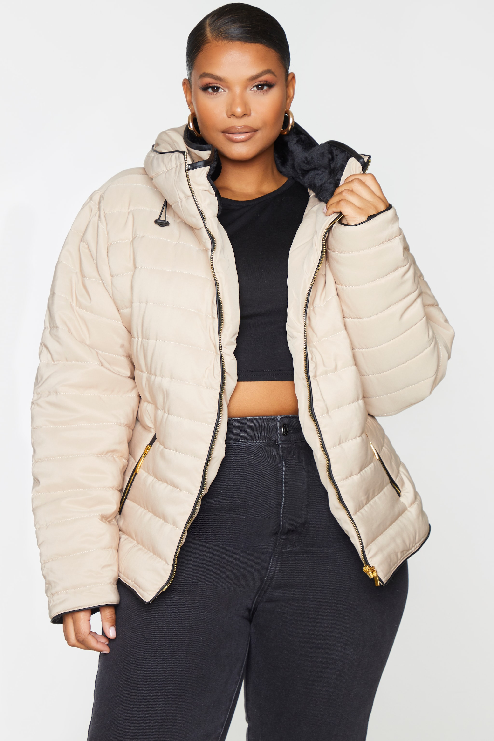 Plus Mara Stone Puffer Jacket 1