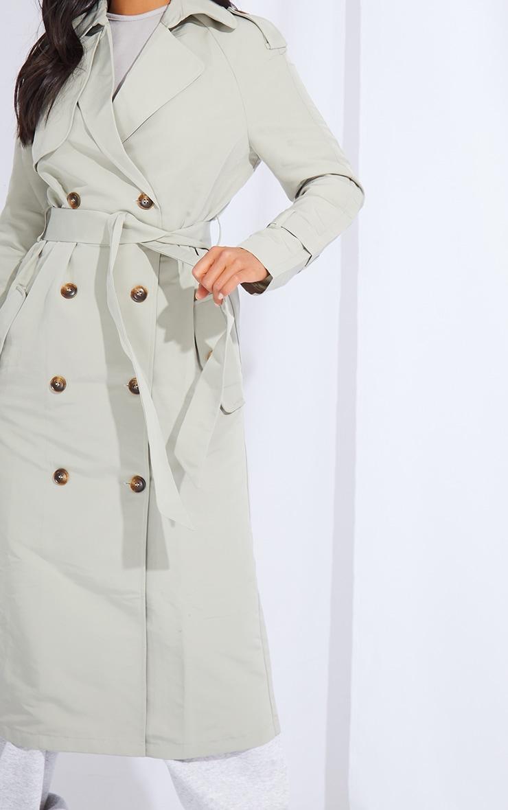 Petite Khaki Oversized Trench Coat 4