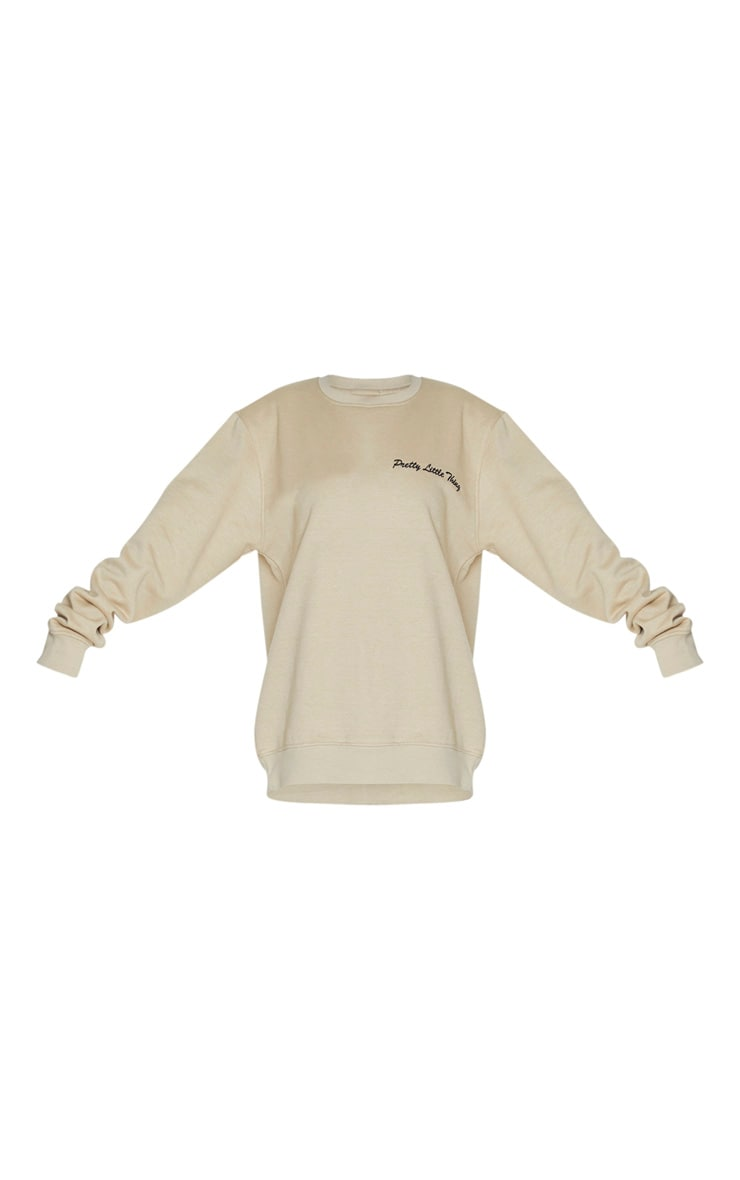 PRETTYLITTLETHING Sand Embroided Sweatshirt 5