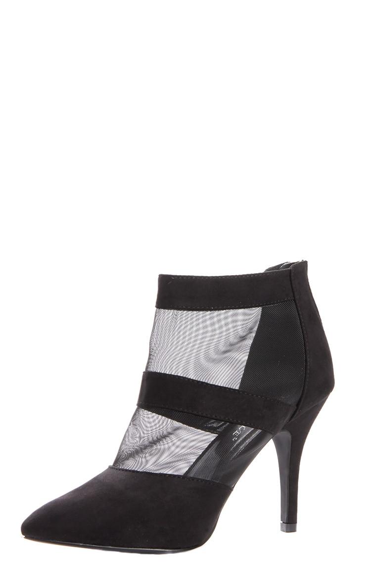 Nigella Black Suede & Mesh Heels 3