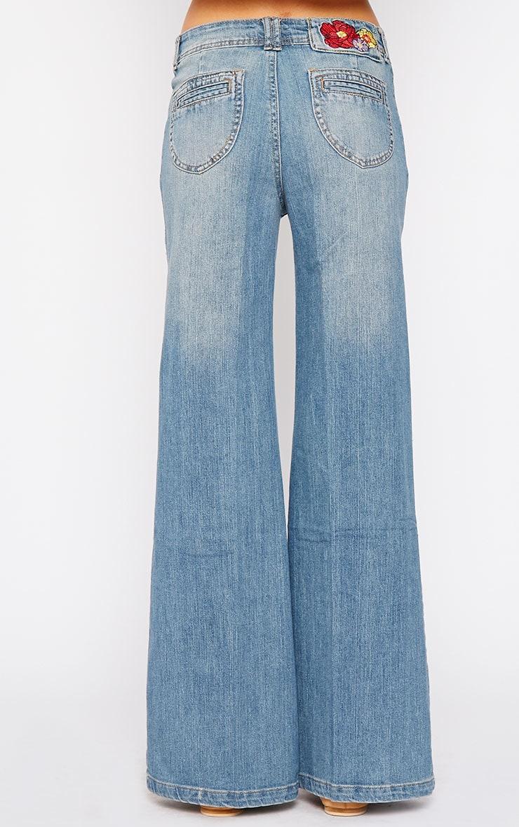 Tierna Blue Flared Jean 4