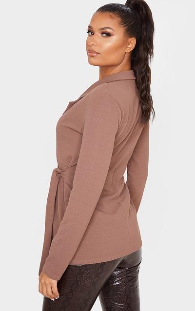Chocolate Tie Side Blazer