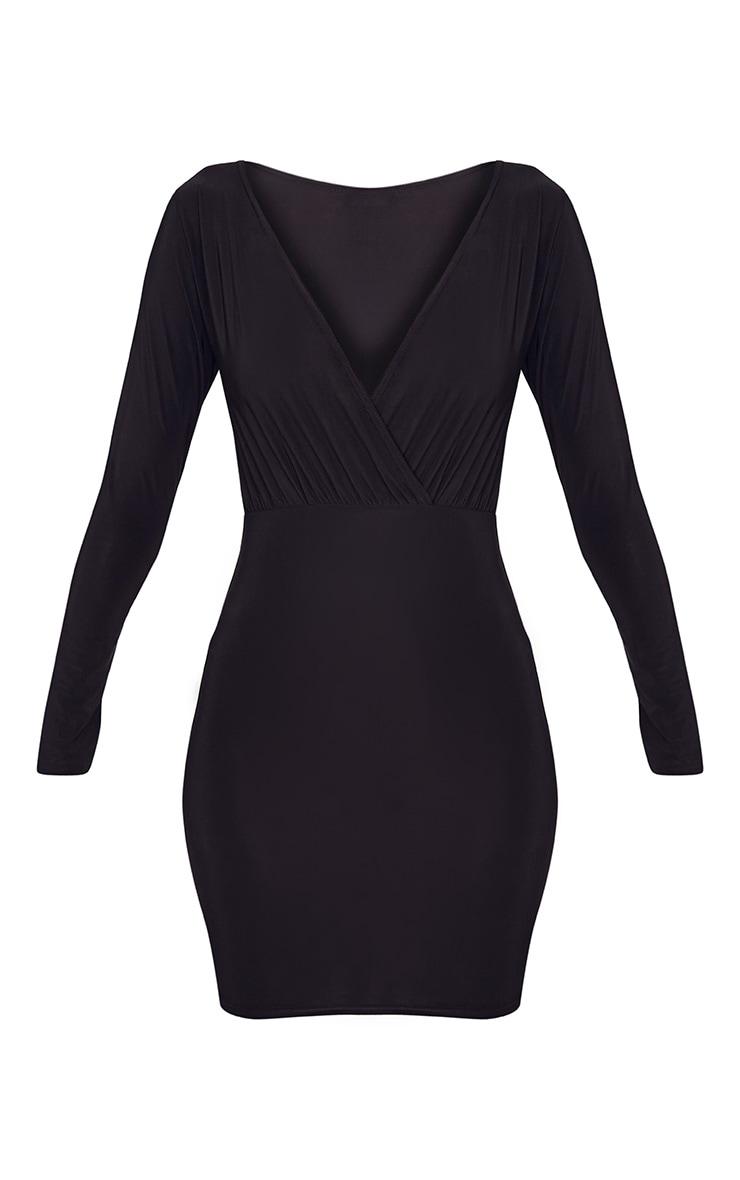 Brylie Black Cross Front Mini Dress 3