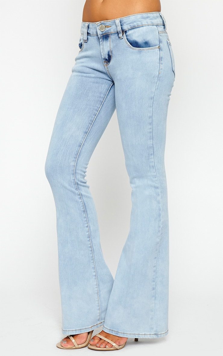 Billie Light Wash Flared Jeans 4
