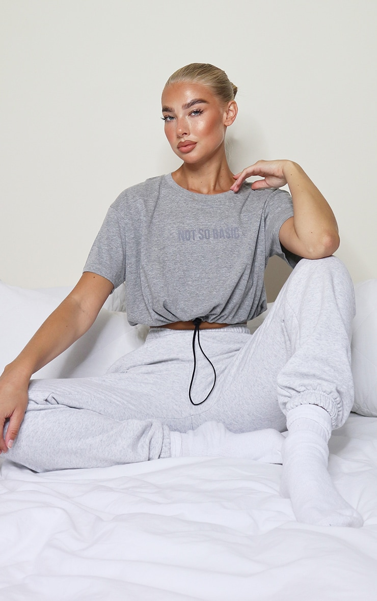 Grey Not So Basic Logo Toggle T Shirt 3