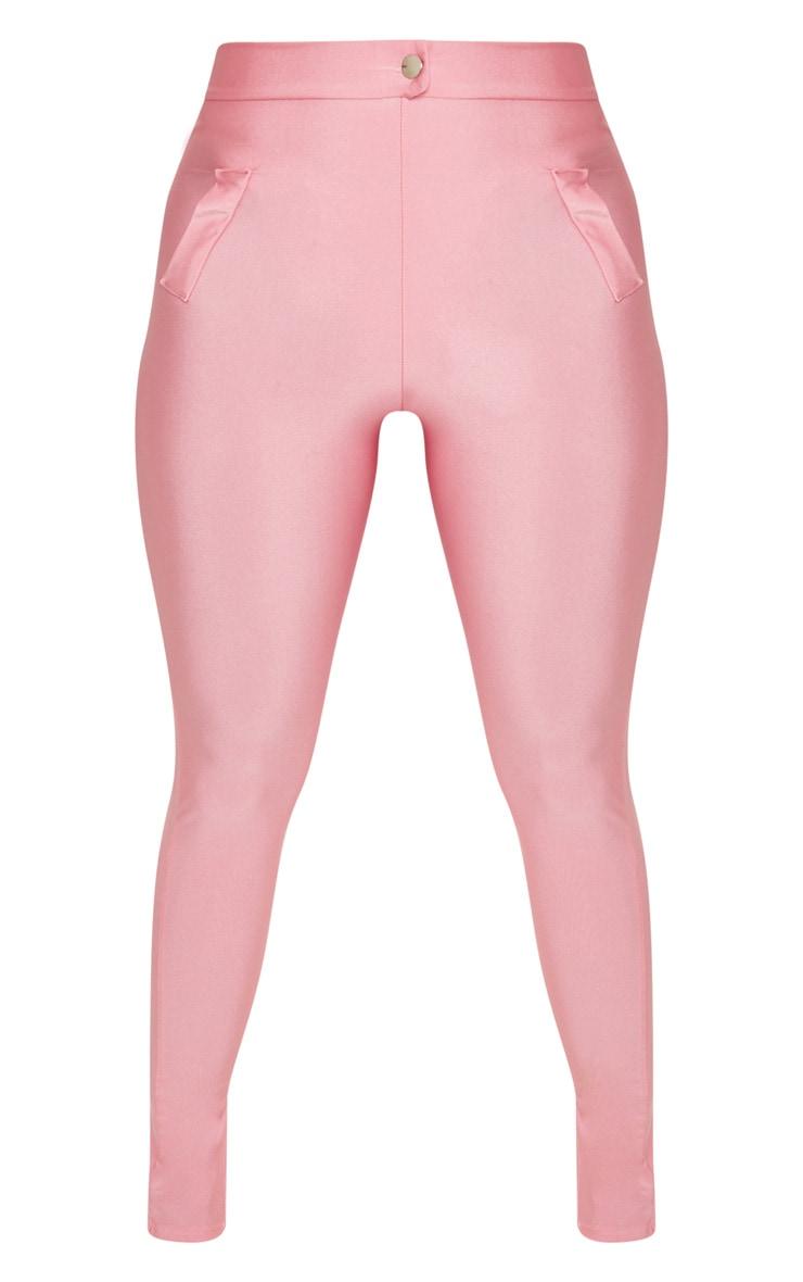 Pink Disco Split Hem Skinny Trouser 3