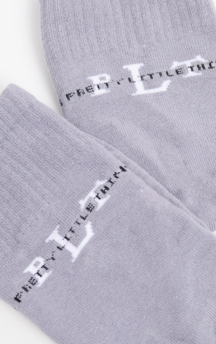 PRETTYLITTLETHING Grey Sports Socks 4