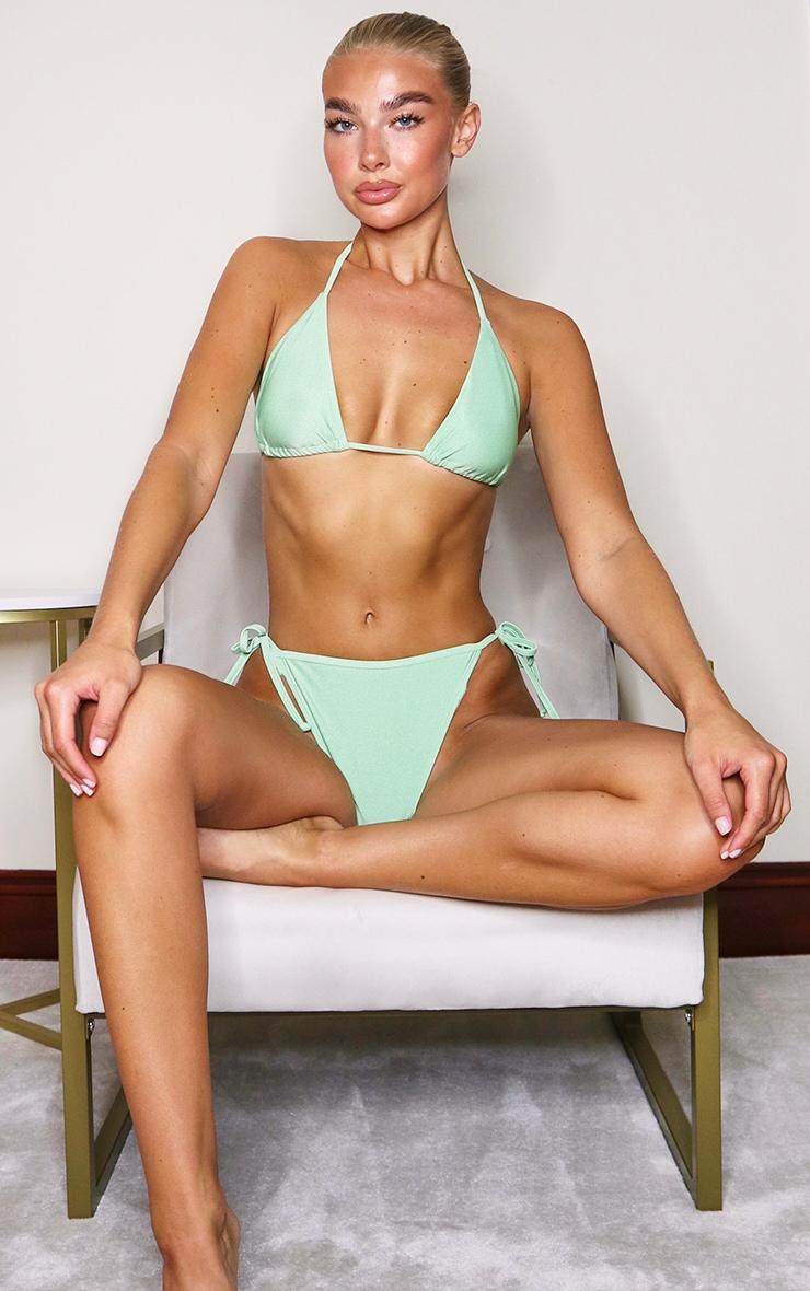 Sage Green Mix & Match Triangle Bikini Top 3