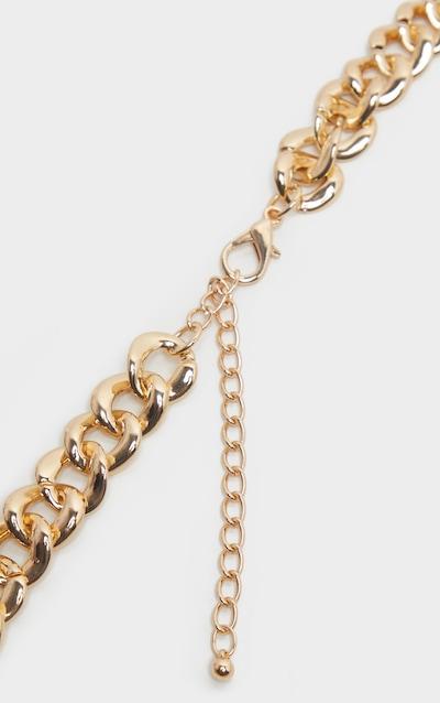 Gold Diamante Hoop Multi Chain Belt