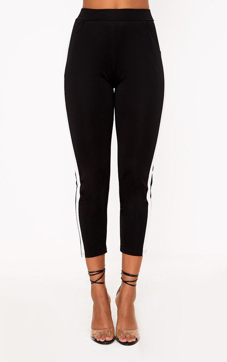 Black Side Stripe Pants 2